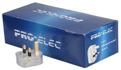 PRO ELEC 9518-13A 20/BOX  Mains Plug,Transparent,13A Fuse, Box X20